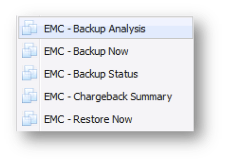 Backup Machine Actions